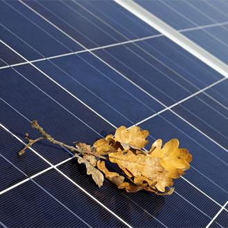 herbst Photovoltaik-Anlage im Herbst